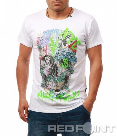 Ексцентрична тениска с щампа 7904