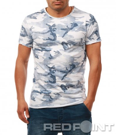Тениска с камуфлажен десен 7897