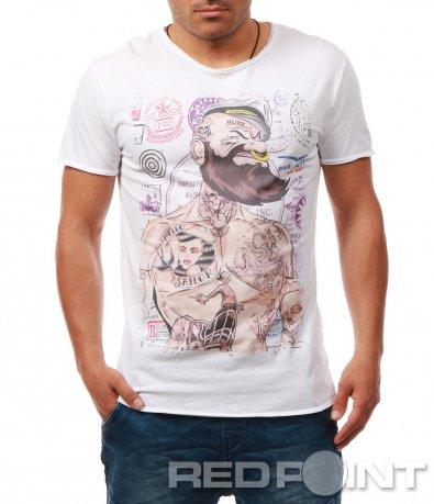 Атрактивна тениска с апликация 7898