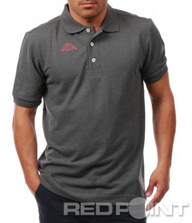 Тъмно сива тениска с яка Kappa 7899