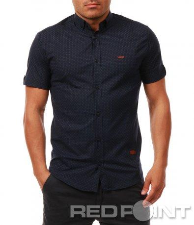 Риза с къс ръкав на точки 7928