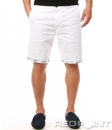 Изчистени бели къси панталонки 7912