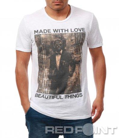 Стилна тениска с щампа 7916