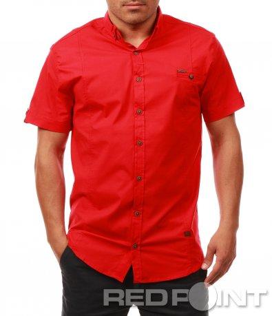 Едноцветнa риза с къс ръкав 7632
