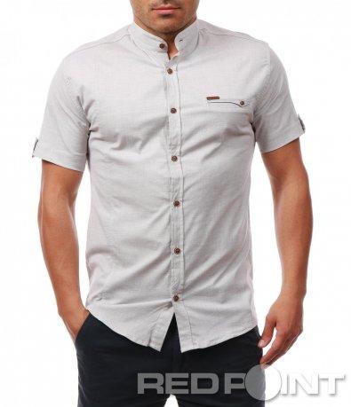 Вталена риза с къс ръкав 7929