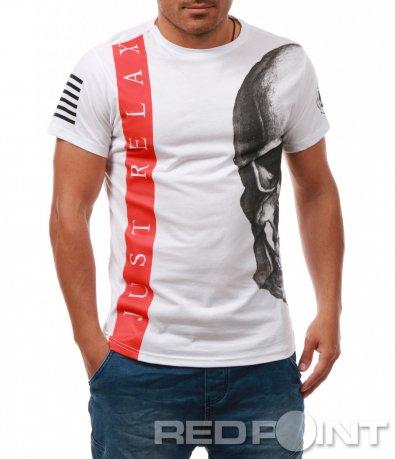 Ефектна тениска с щампи 7946