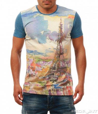 Свежа тениска с градски мотив 7952
