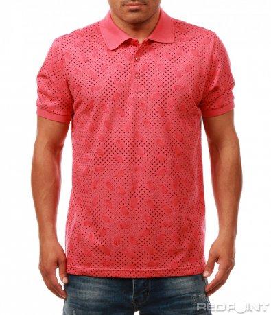 Стилна тениска с яка 7954