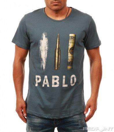 Интересна тениска с щампа 7964