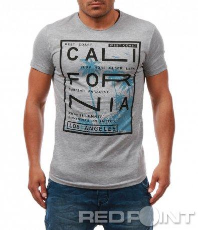 Стилна тениска с надпис 7958
