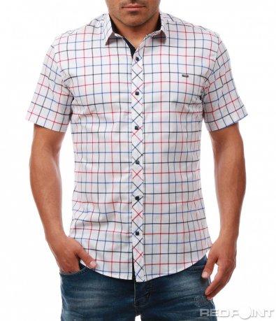 Карирана риза с къс ръкав 7973