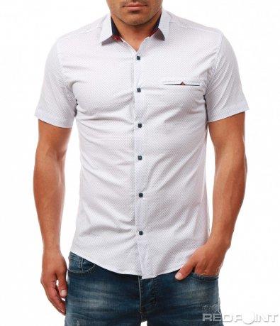Спортно-елегантна риза с къс ръкав 7974
