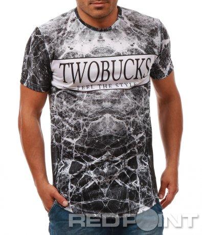 Актуална тениска с овален завършек 7977