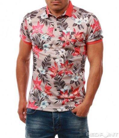 Ексцентрична тениска с яка 7981
