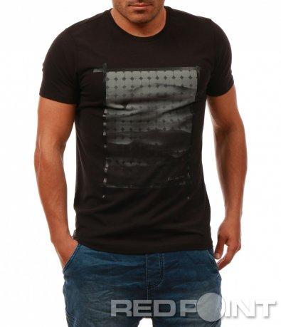 Класическа тениска с щампа 7993
