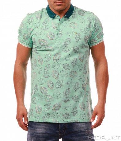 Модерна тениска с яка 7997