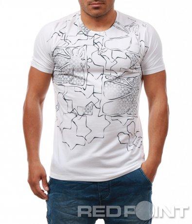 Свежа тениска с геометрични мотиви 7998