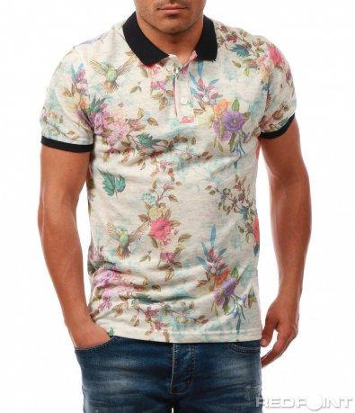 Тениска с флорални мотиви 8003