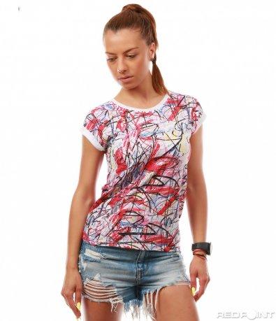 Шарена тениска с полуръкав 8008