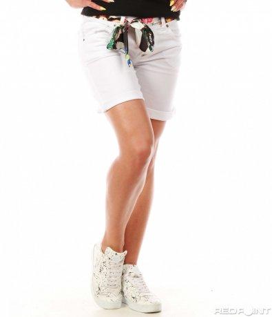Бели къси панталонки 8012
