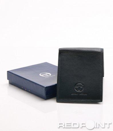 Черен портфейл от естествена кожа 8040