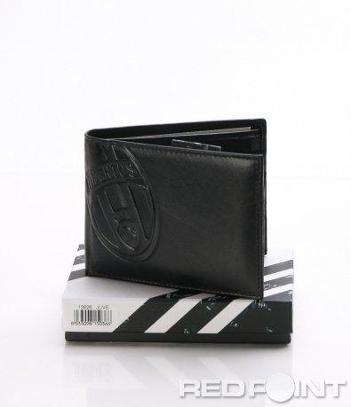 Черен кожен портфейл Juve 8049