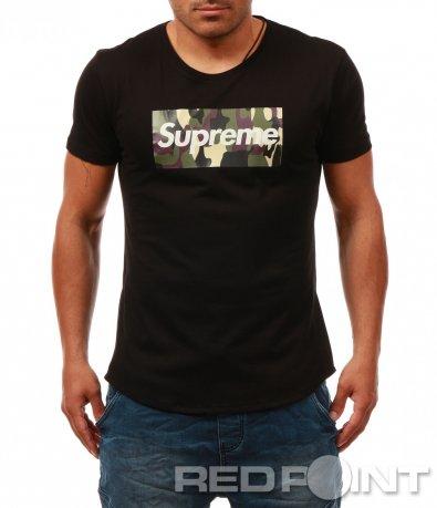 Класическа тениска с надпис 8061