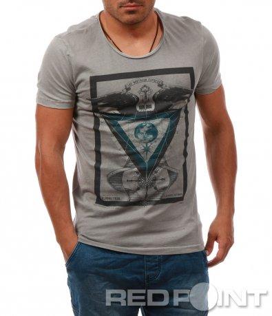 Модерна тениска с апликация 8063