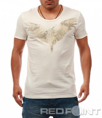 Свежа тениска с щампа 8064
