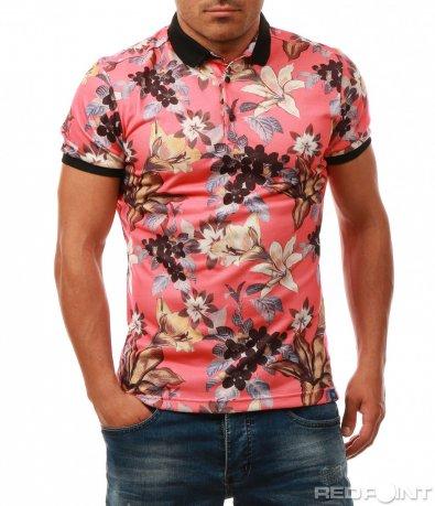 Свежа тениска с яка 867