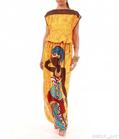 Дълга дизайнерска рокля 8031