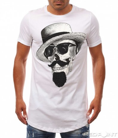 Щура тениска с щампа 8079