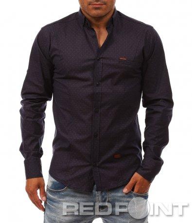Класическа риза с принт на точки 8085