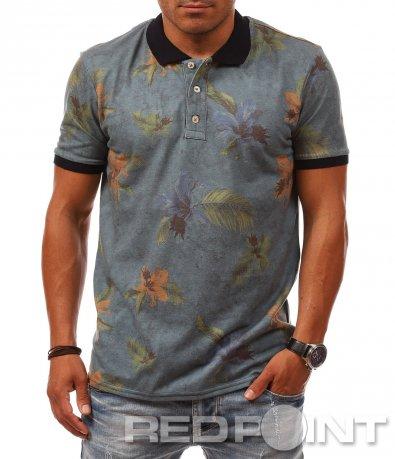 Семпла лятна тениска с яка 8092