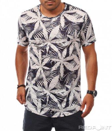 Лятна тениска с флорални мотиви 8093