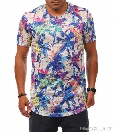 Тениска с Longfit кройка 8094