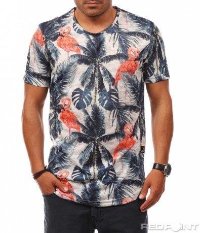 Тениска с летен принт 8095