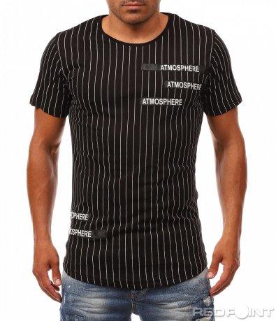 Тениска с раиран десен 8097