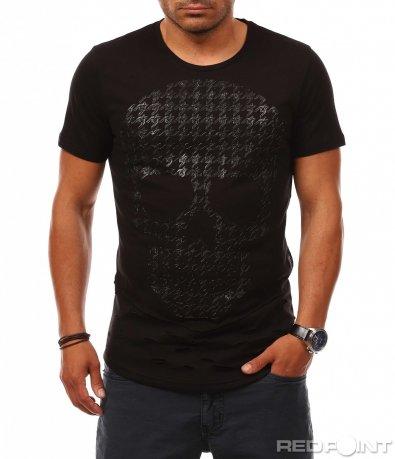 Едноцветна тениска с апликация 8098