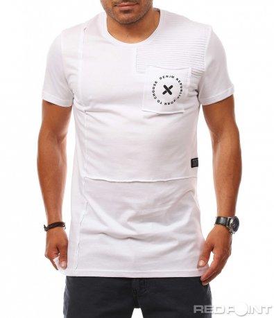 Разчупена тениска с джоб 8102