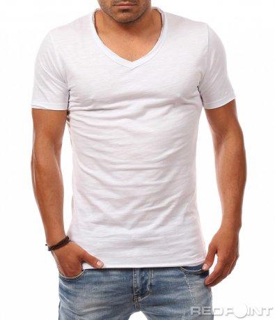 Изчистена тениска с бод деколте 8104