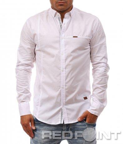 Лятна бяла риза с лого 8107