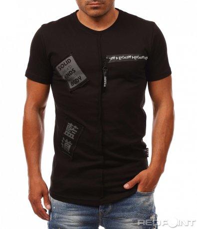 Тениска с релефен шев и акценти 8110