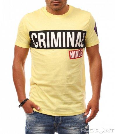 Лятна тениска с надпис Criminal 8112