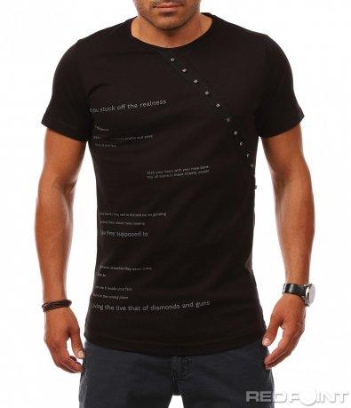Лятна тениска с декорация 8108