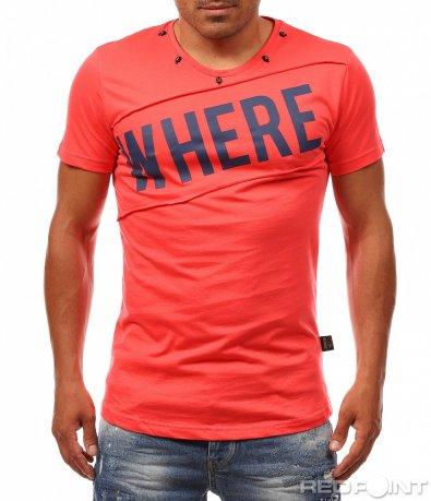 Лятна тениска с надпис Where 8109