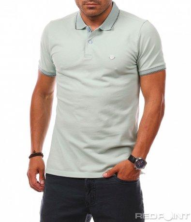 Класическа блуза с къс ръкав 7354
