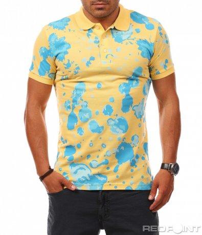 Атрактивна тениска с пръски 7821
