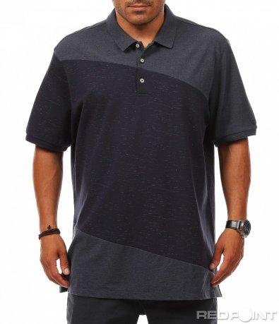 Двуцветна тениска с яка 8125
