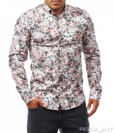 Цветна лятна риза 8130
